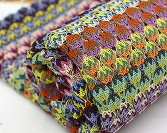 Multi Colour Poly knit, by Yard