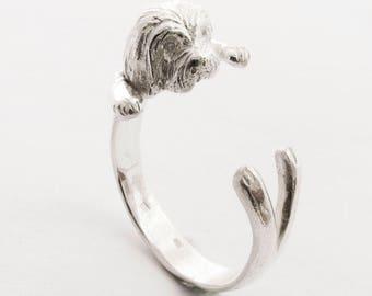 Silver Havanese ring