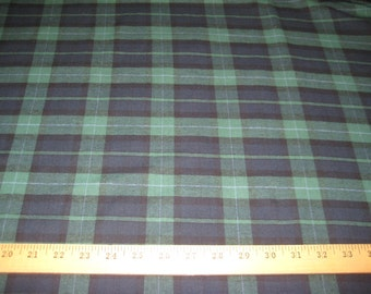 """Blackwatch Plaid 100% Cotton Flannel fabric 58"""" wide sold by the yard"""