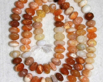 Opal, Mexican Fire Opal, Smooth Rondelle, Fire Opal Rondelle, Opal Rondelle, Semi Precious, Natural Stone, Full Strand, 10 mm, AdrianasBeads