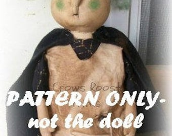 Witch epattern-NOT DoLL doll Crows Roost Prims 126e Halloween Primitive lil epattern immediate download