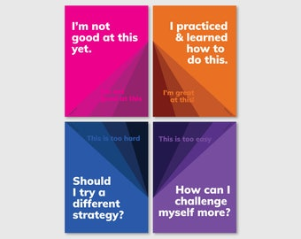 Growth mindset classroom poster series (download)