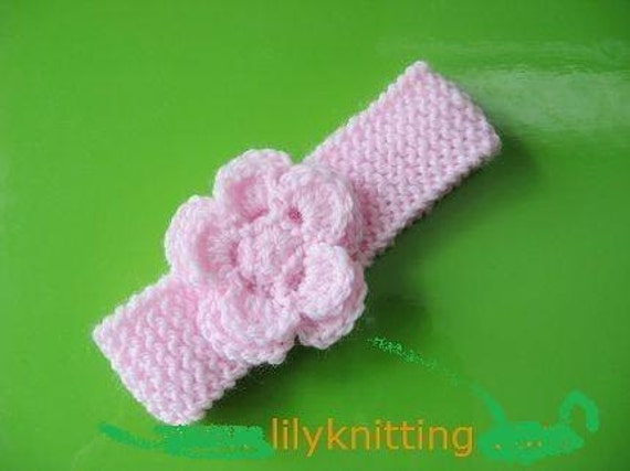 Pattern In Pdf Crochetedknitted Flower Baby Headband