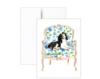 Springer Spaniel Printable - Printable - Spaniel Clip Art - Dog Clip Art- Dog Printable -  Watercolor Dog  - Spaniel Print - Watercolor Art