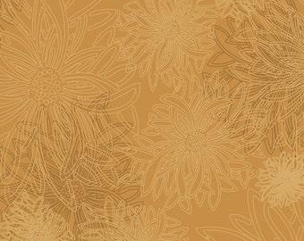 Art Gallery Floral Elements Honey Mustard FE-513 HALF YARD- Athena Coordinate