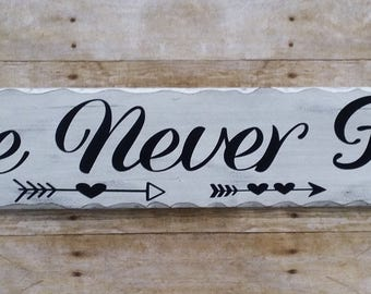 Love never fails 1 Corinthians distressed wood sign home decor', inspirtional sign, life sayings