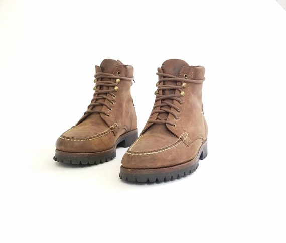 Work Leather Ankle Boots 5 Haan Combat Desert Bootie 8 Field Boots Cole Vintage Mens Military Distressed Boots Country Chukka Booties xpn70wq47O