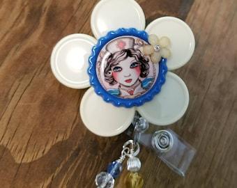 Nurse Badge Reel Tattoo Design Nurse Vial Cap ID Holder