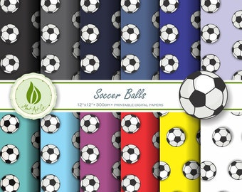 Soccer Football Digital Paper, Sports Digital Paper, Sports Gift Wrapping, World Cup Digital Paper
