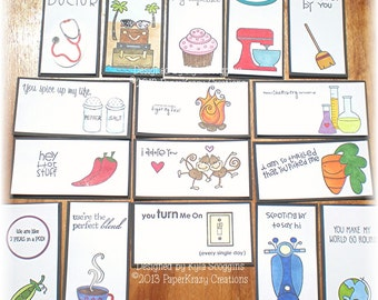 Adult Lunch Box Love Notes Great for Couples, Grown Up Lunch Box Notes, Adult Lunch Notes