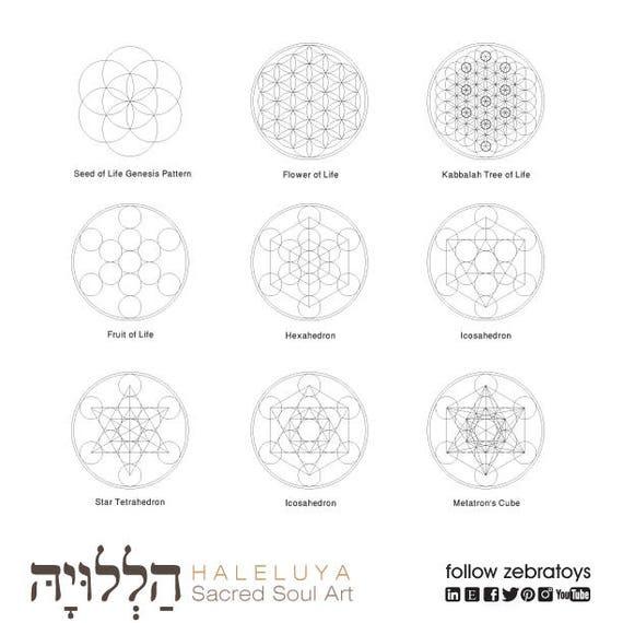 Sacred Geometry Symbols-Ancient Secret Elements-Energy Healing