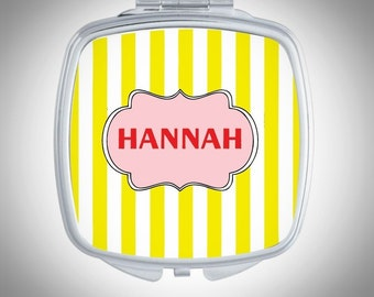 Personalized Compact Pocket Mirror -  Compact Mirror - Personalized Bridesmaid Gift - Wedding Favor - Custom Gift - Gift for Her
