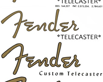 Four different Telecaster Decals
