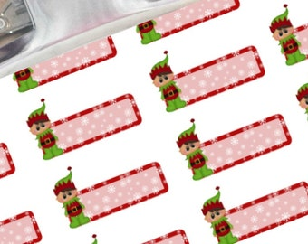 Elf boxes planner stickers