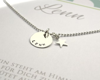 JEWELRY engraving, chain 925 sterling silver name necklace