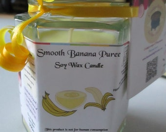 Smooth Banana Puree Scented Soy Wax Candle 300g
