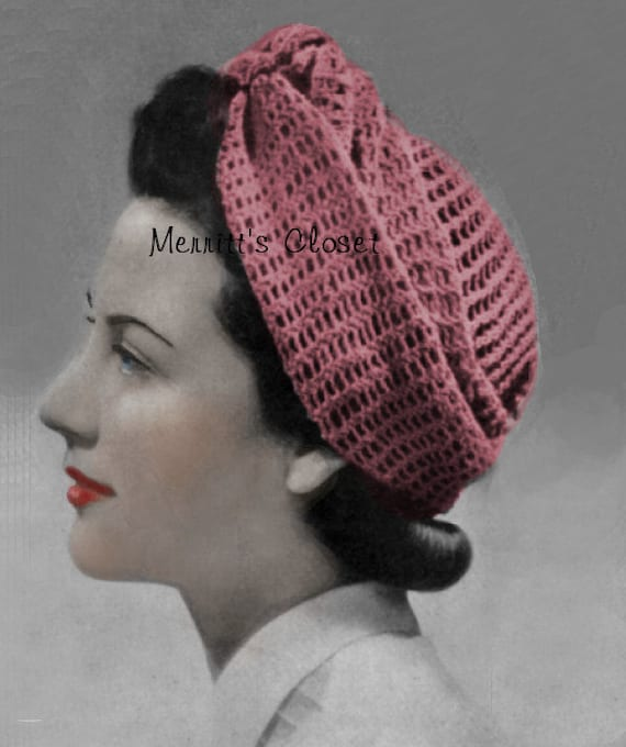 Turban Wrap Head Scarf 1940s Wartime Vintage Pattern Knitted
