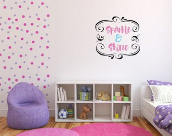 Sparkle & Shine Multi Colored Decal Nursery, Children, Wall Decal - Great For Home, Bedroom and Living Room Decor