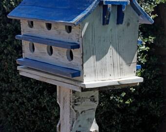 Purple Martin House, large bird house, Functional bird house, rustic bird house, barn bird house, Bird House, Handmade Bird House