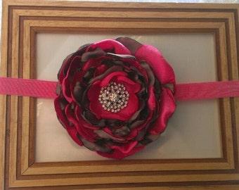 SALE Satin flower Headband