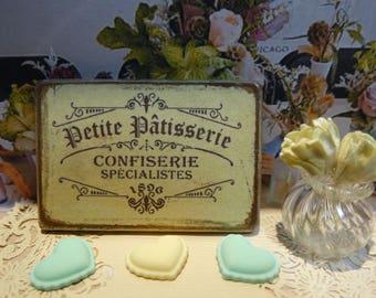 Petite Patisserie Miniature Plaque for Dollhouse 1:12 scale.