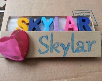 Personalized Name Crayons - crayon gift - Easter - Christmas - toddler - preschooler - boy - girl - stocking stuffer - holiday