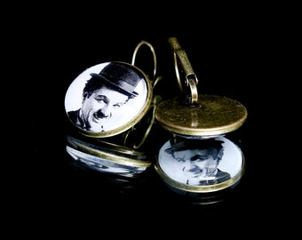 Earrings - Charlie Chaplin