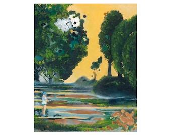 """Print """"Along the Meadow"""" 40x50 cm, reproduction, Fine Art Giclée"""