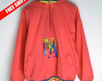 Windbreaker vintage Rucanor Men M L Anorak 80s 90s windbreaker Vintage Vintage anorak 80s Vintage jacket 90s bomber Colorful windbreaker
