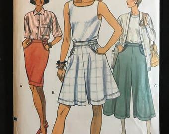 Vogue 8067 - Tapered Skirt, Split Skirt, and Wide Legged Shorts - Size 20 22 24