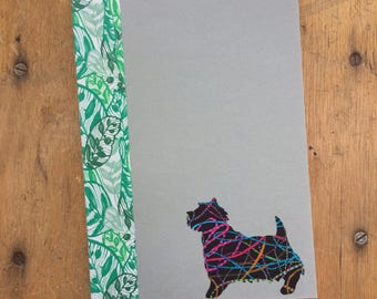 Norwich Terrier Doggy Tales Notebook in Liberty London Art Fabric