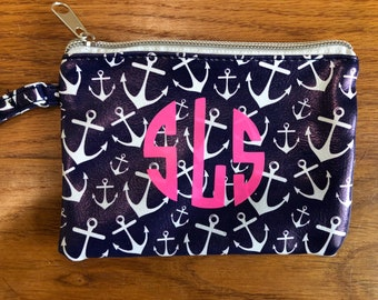Pineapple bag- anchor bag- leopard print bag- gift for her- monogrammed bag- personalized bag-party favors-bridesmaids gifts-