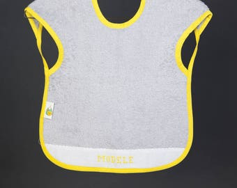 Bib with straps to customize (text & color)