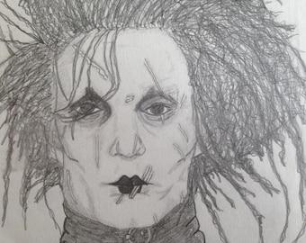 Portrait Edward Scissorhands
