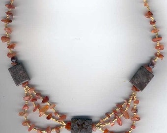 Lovely Jasper Carnellian Necklace