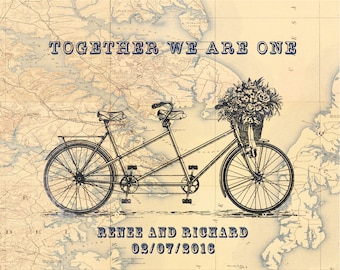 Bicycle Wedding gifts Tandem Bicycle Prints Bicycle Wedding Gift Bicycle Anniversary Gifts