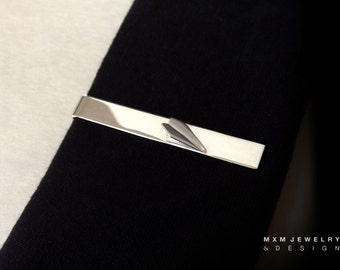 SterlingSilver Handfolded Paper Airplane Tie Bar