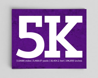 Gifts for Runners, Runners Gifts, Gifts for Her, Gifts for Him, 5k Posters, Typographic Prints, Running Gifts, Last Minute Gift Ideas Runner