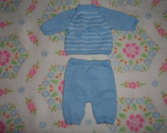 Baby-1 month - knitted wool set
