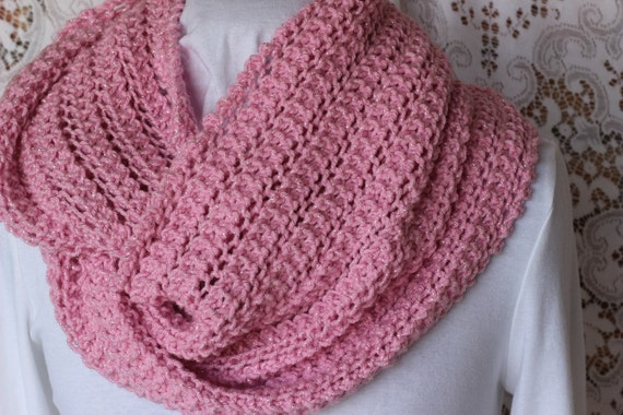 Knitting Scarf Patterns Infinity Scarf : Knit cowl patterns free knitting pattern lace scarf