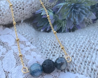 Beautiful ~ Aromatherapy ~ Essential Oil Diffuser ~ Bar Necklace