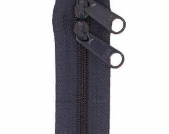 "Handbag Zipper 30"" Double Slide Head to Head Extra Long Pulls Choose Color"