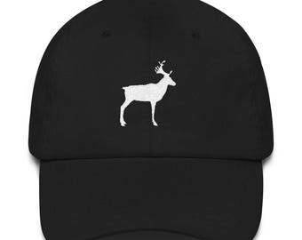 Reindeer Embroidered Dad Hat Santa Christmas Gift for Him Creative Present Idea
