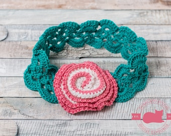 Crochet Headband Pattern, Baby Girl Headband, DIY Craft, Baby To Adult Sizes, Tutorial Crochet Pattern, Instant Download /3007/