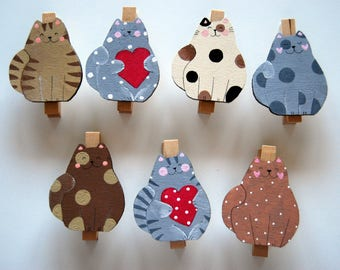 close-close-Pack wooden clothespin bag with dog