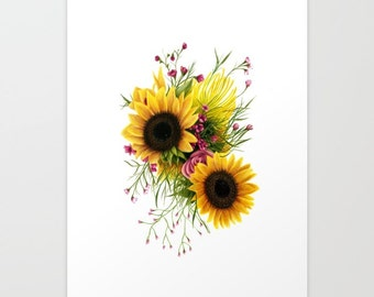 Floral 3 (Sunflower) Print