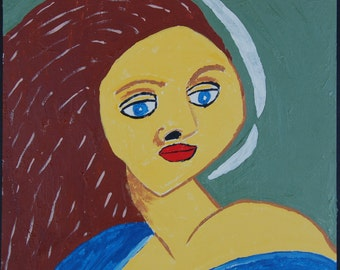 Staring Maid - A painting by Rory Doyle, an artist with autism