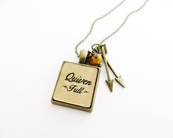 Quiver Full - Handcrafted Pendant Necklace with Arrow Charm - Inspired by Psalm 127:5