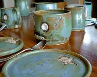 RESERVED for the wedding of Maggy de Percin/Quinton Brown-Zombie and monster Place Settings