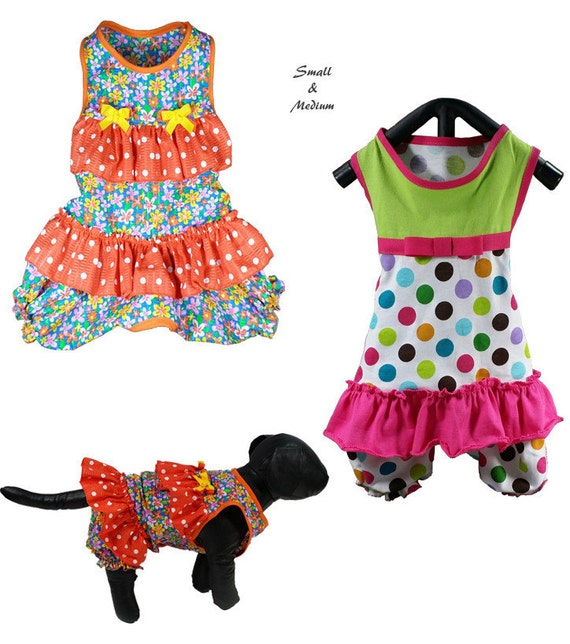 Ruffles Dog Romper Pattern SMALL & MEDIUM Dog Onesie Sewing